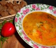 Постный гороховый суп с сухарями