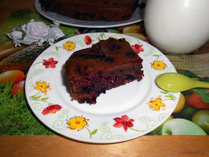 рецепт постного шоколадного кекса