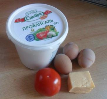 Продукты для простого салата