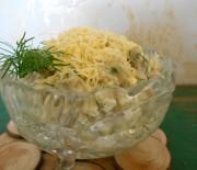 Салат из баклажанов с яйцом