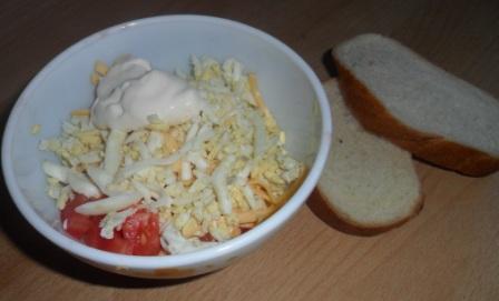 Самый просто салат, рецепт с фото