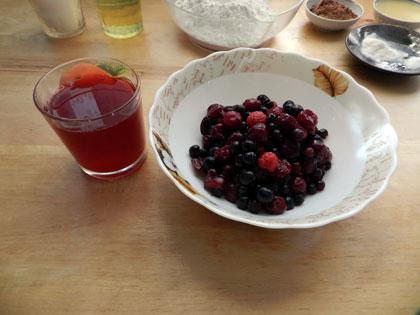 ягоды для начинки кекса