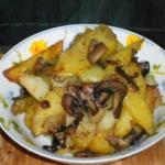картошка с грибами шампиньонами