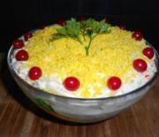 Салат с крабовыми палочками, рецепт слоями