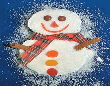 Кекс снеговик на праздничный стол
