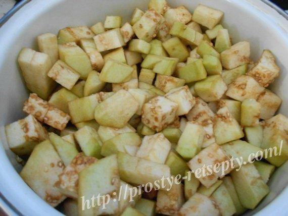 салат баклажаны яйца лук майонез рецепт