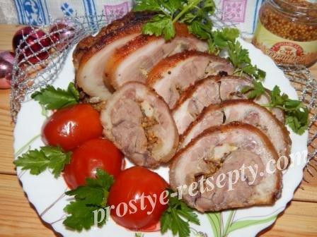 мясо по-французски с шампиньонами рецепт фото