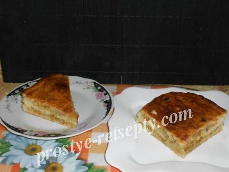 пирог с луком