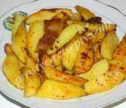 Картофель «По-селянски» на сковороде