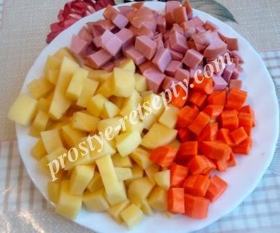 нарезать продукты