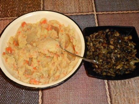 картошка и грибы