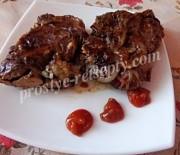 Куриная печень в жировой сетке на углях