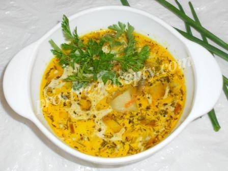 рецепт суп пюре из шампиньонов с фото пошагово в