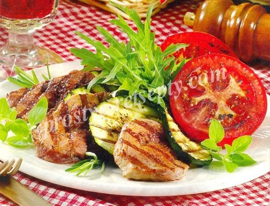 вырезка с овощами