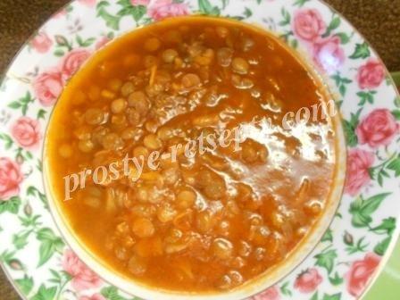 суп чечевичный