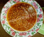 Блюда из чечевицы