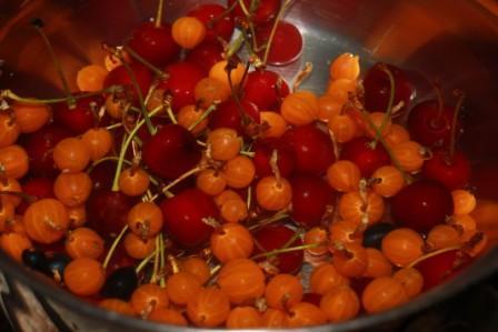 промыть ягоды и отправить в скастрюлю