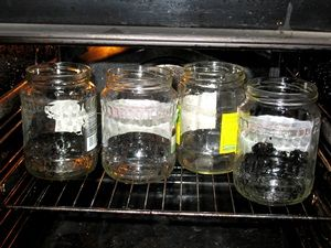 стерилизация банок в духовке