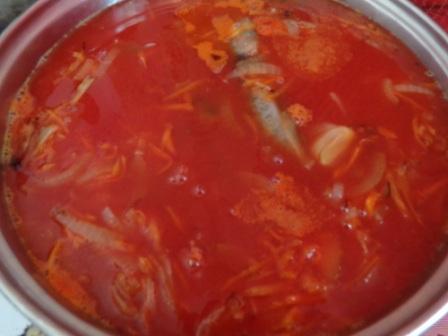 залить томатным соком