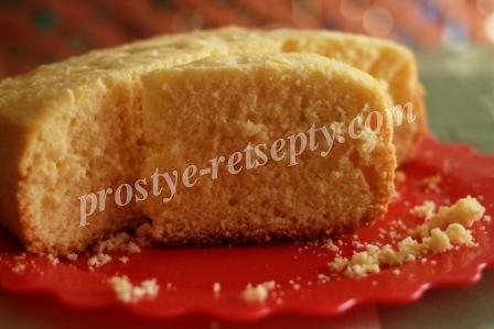бисквит в мультиварке рецепт с фото