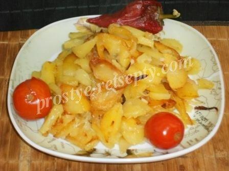 картошка на сковороде