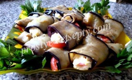 праздничная закуска из баклажанов