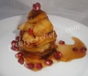 Яблочный десерт из карамелизированных яблок