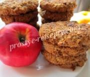 Вкусное домашнее овсяное печенье с яблоком