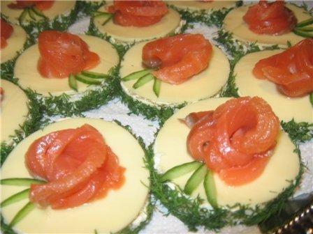 праздничные бутерброды с семгой пошаговые рецепты с фото