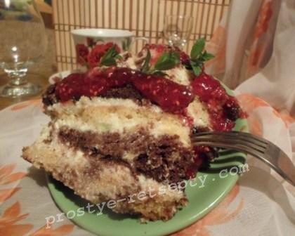 бискитный торт простой рецепт