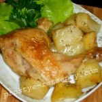 курица с картошкой в фольге
