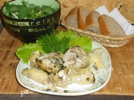 рыба с картошкой в духовке