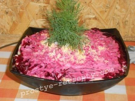 Салат сельдь под шубой, классический рецепт