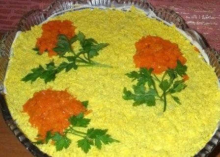 как украсить салат мимоза к новому году