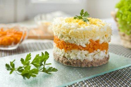 салат мимоза рецепт классический рецепт с морковью