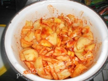 выложить перец в томат