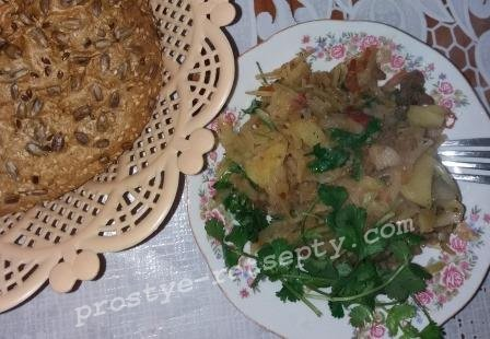 рецепт рагу овощное с картошкой с мясом с капустой и
