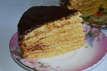 Торт классический рецепт пошагово с заварным кремом