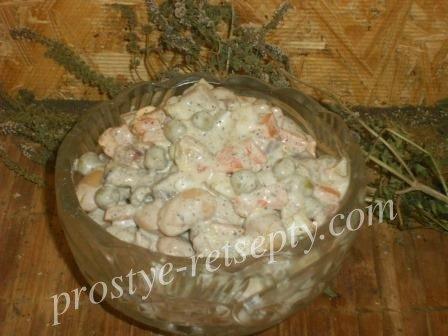 салат из фасоли с селедкой