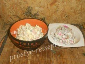 салаты с фасолью