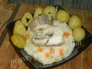 рыба на пару с рисом