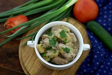 картошка тушеная с мясом
