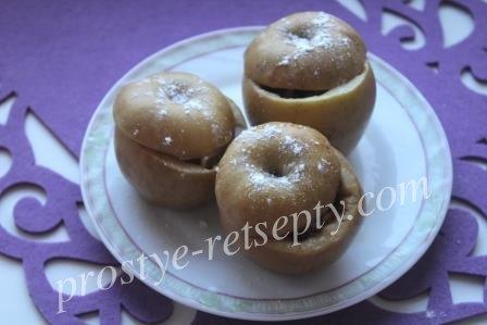 Печеные яблоки с творогом и сухофруктами
