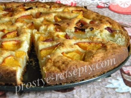 персиковый пирог с йогуртом