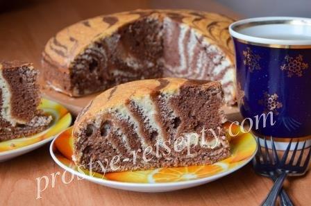 Зебра торт рецепт на кефире