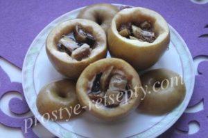 Печеные яблоки в мультиварке рецепт с фото