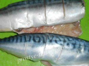 сделать надрезы в рыбе