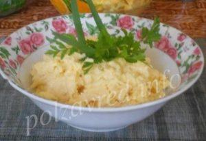 сыр с майонезом и чесноком