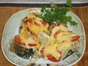скумбрия в духовке с овощами