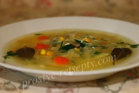 суп с курицей и лапшой